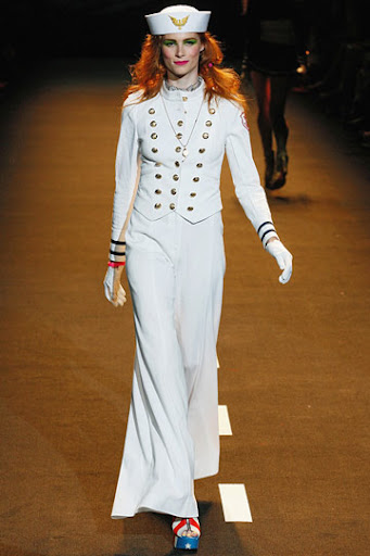 Betsey Johnson Spring collection 2011 nautical navy style