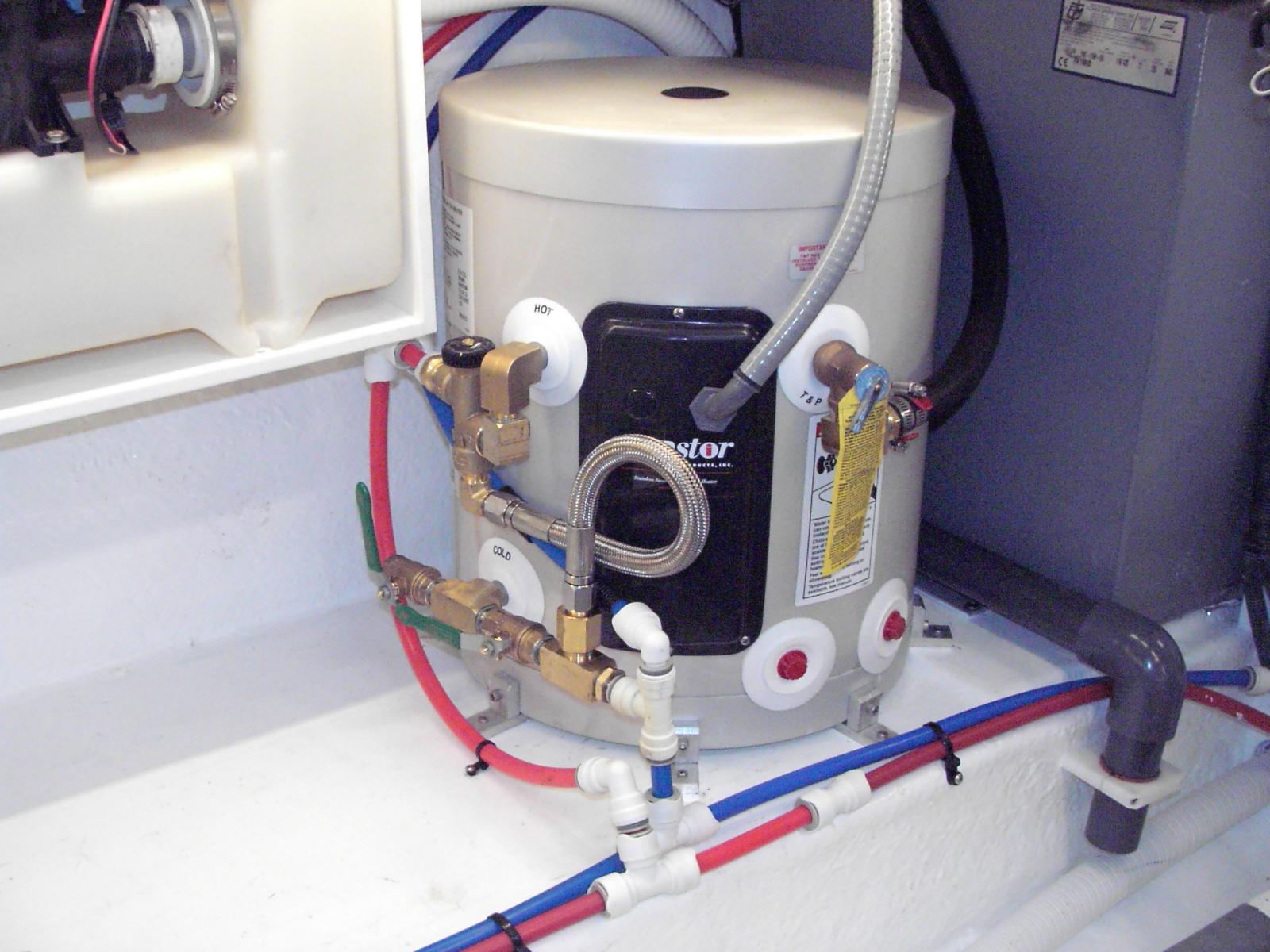 Sea Ray 340 Sundancer Restoration Hot Water Plumbing Complete