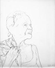 PALENQUERA- 2005. Làpiz sobre papel mantequilla. 43x35 cm. AMH