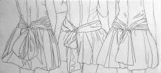 SIN TITULO / 2008 / Lápiz sobre papel mantequilla / 27x61 cm. AMH