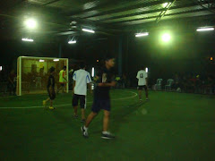 PERTANDINGAN FUTSAL SEDANG BERLANGSUNG