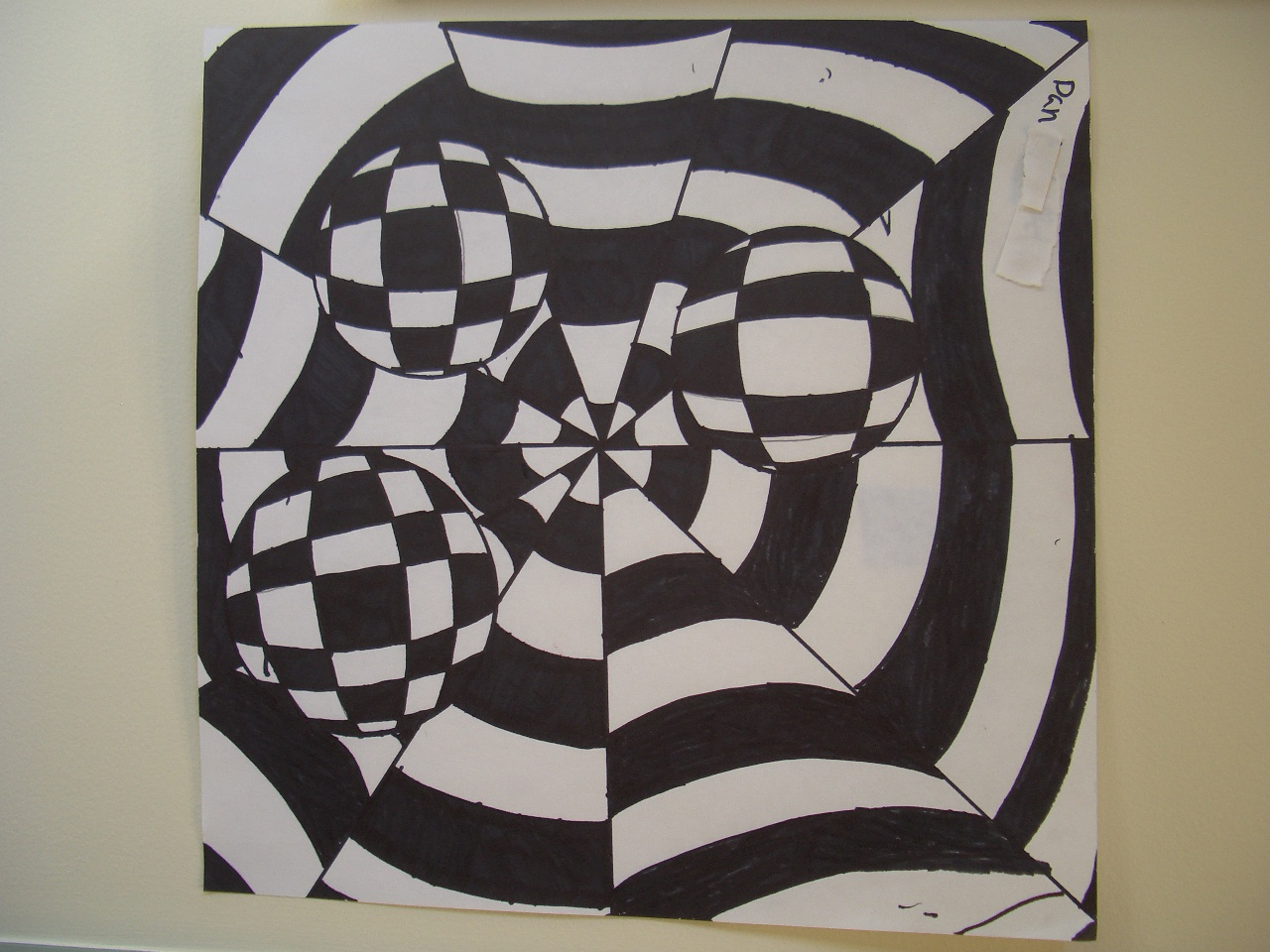 Cool Art Designs To Draw : Dream draw create: op art by grade 8