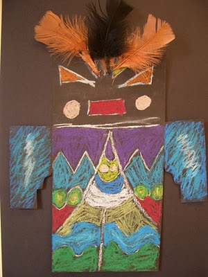 Color book Kachina Masks - Kachina Katsina Doll and Mask Child Crafts
