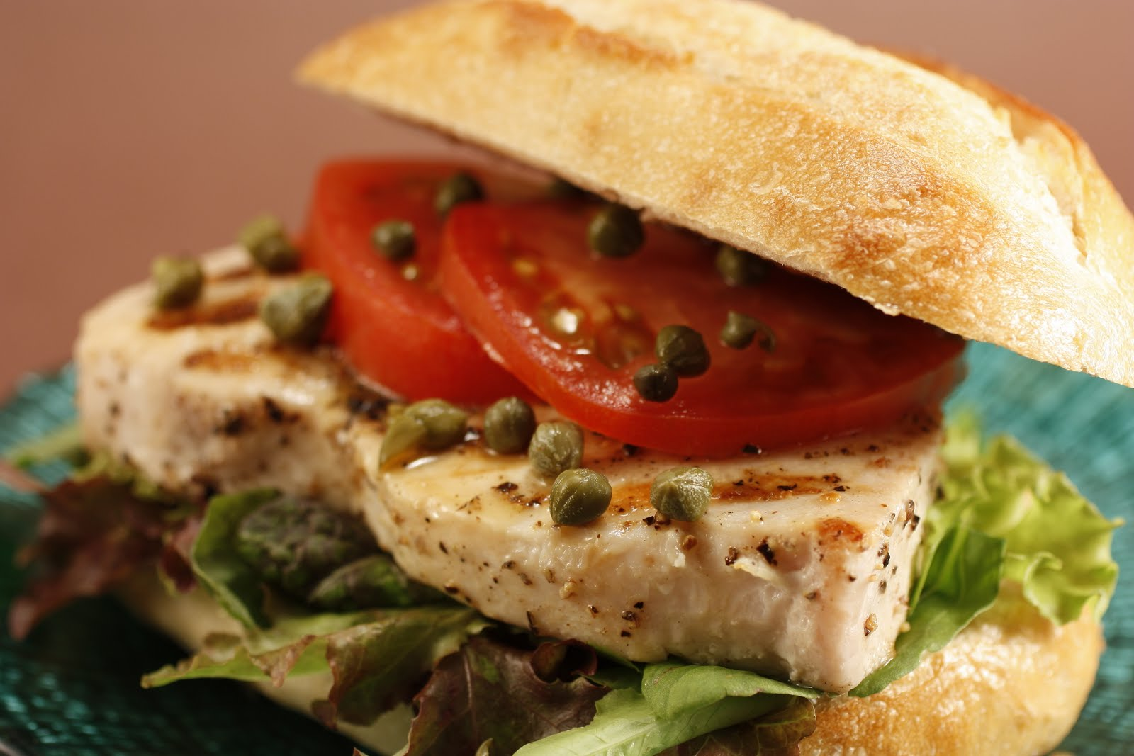 Chef Chuck\'s Cucina: Chef Chuck\'s Swordfish Sandwich