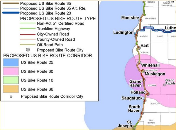 Michigan trails ferrysburg city council supports bike route 35 the grand haven newspaper today had a nice story about how the ferrysburg city council supports the interstate bicycle route that goes along the michigan sciox Image collections