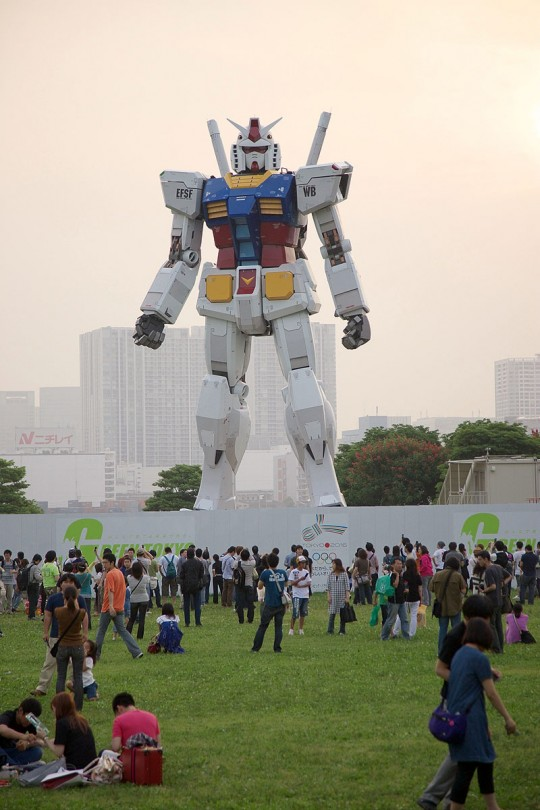 The Giant Gundam Statue