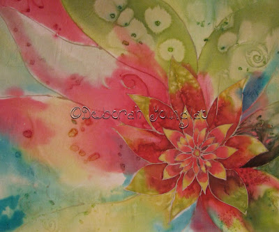 Deborah Younglao silk painting doodles