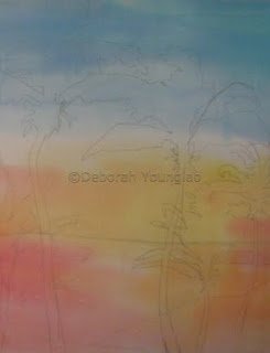 Deborah Younglao silk painting start