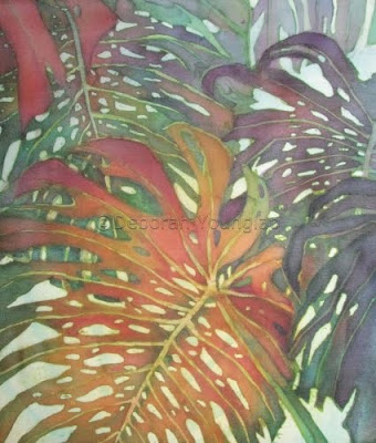 Younglao batik painting monstera Palm Patterns 1