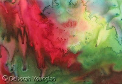 Younglao abstract silk painting Explosion