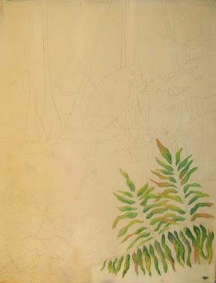 Deborah Younglao silk painting progress