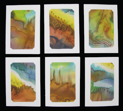 Deborah Younglao handpainted silk note cards