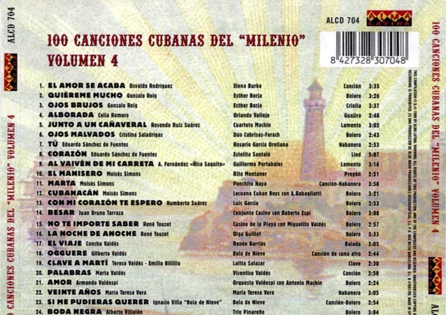 Musica de cuba 100 canciones cubanas del milenio vol 4 for Entradas 4 milenio