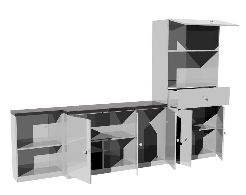 Chronos dise os cocina existente con muebles complementarios for Muebles complementarios