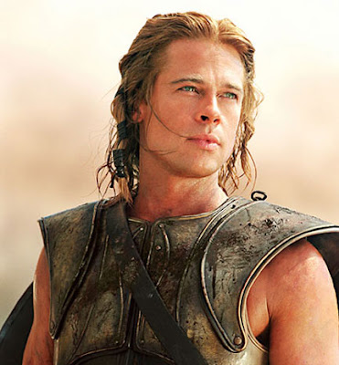 brad pitt troy shirtless. rad pitt as achilles in troy.
