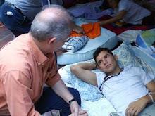 Julio Cesar Rivas en huelga de hambre por la libertad de los presos politicos