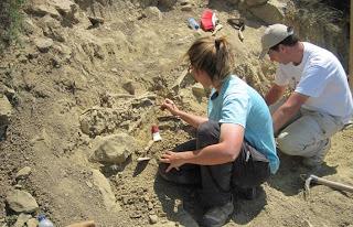 Excavación arqueológica en Biota 2010