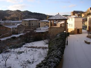 Nieve en Uncastillo