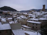 Uncastillo nevado