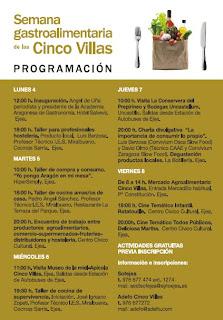 Programa Semana Gastroalimentaria Cinco Villas