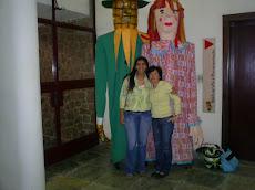 Elisangela e Nilza na Biblioteca Monteiro Lobato
