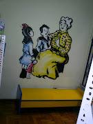 decoração da sala de leitura