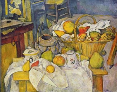 Paul Cézanne, Nature morte au panier de fruits, 1888-1890, Musée d'Orsay, Paris