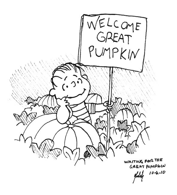 The Daily Doodle October 2010 Great Pumpkin Brown Coloring Pages