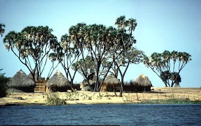 Huts Along the Nile