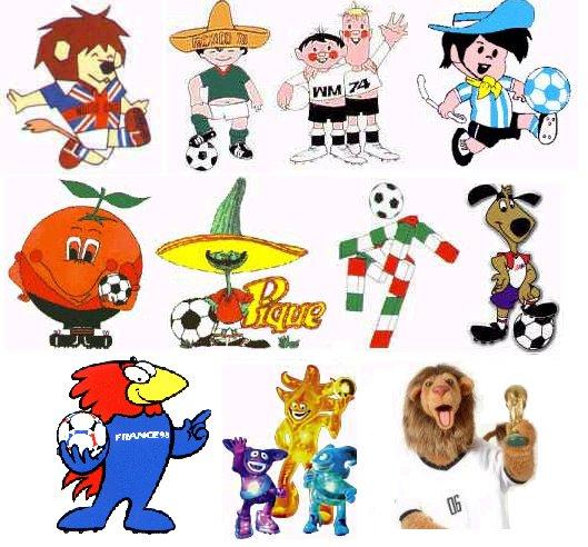Mascotas oficiales mundiales de fútbol: