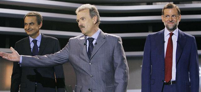 Rajoy vence a ZP en el debate de 25/02/2008