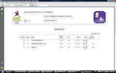 Erika 1:01,72 en 100 m Mariposa