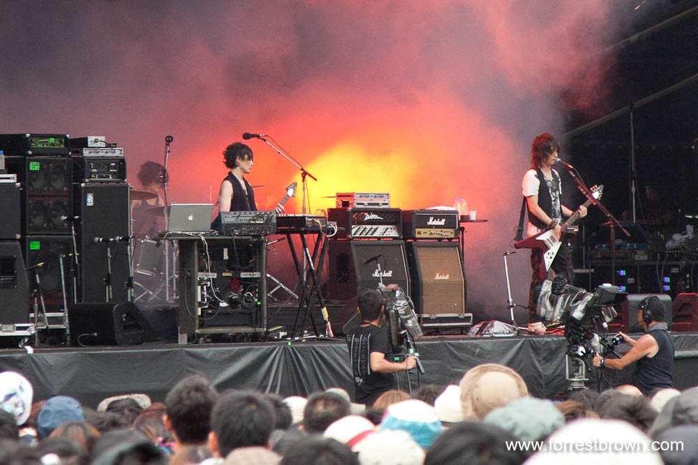 Boom Boom Satellites at Fuji Rock 2010