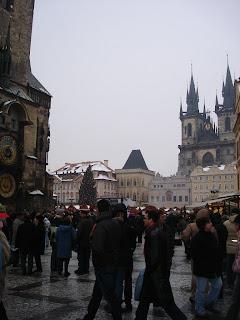 Староместская площадь в ожидании Нового Года