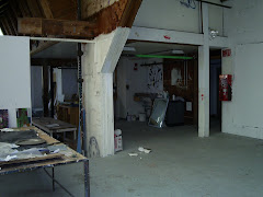 Second Floor Studio, Painting Building, Goddard College, August 2009 (unused since 2001).