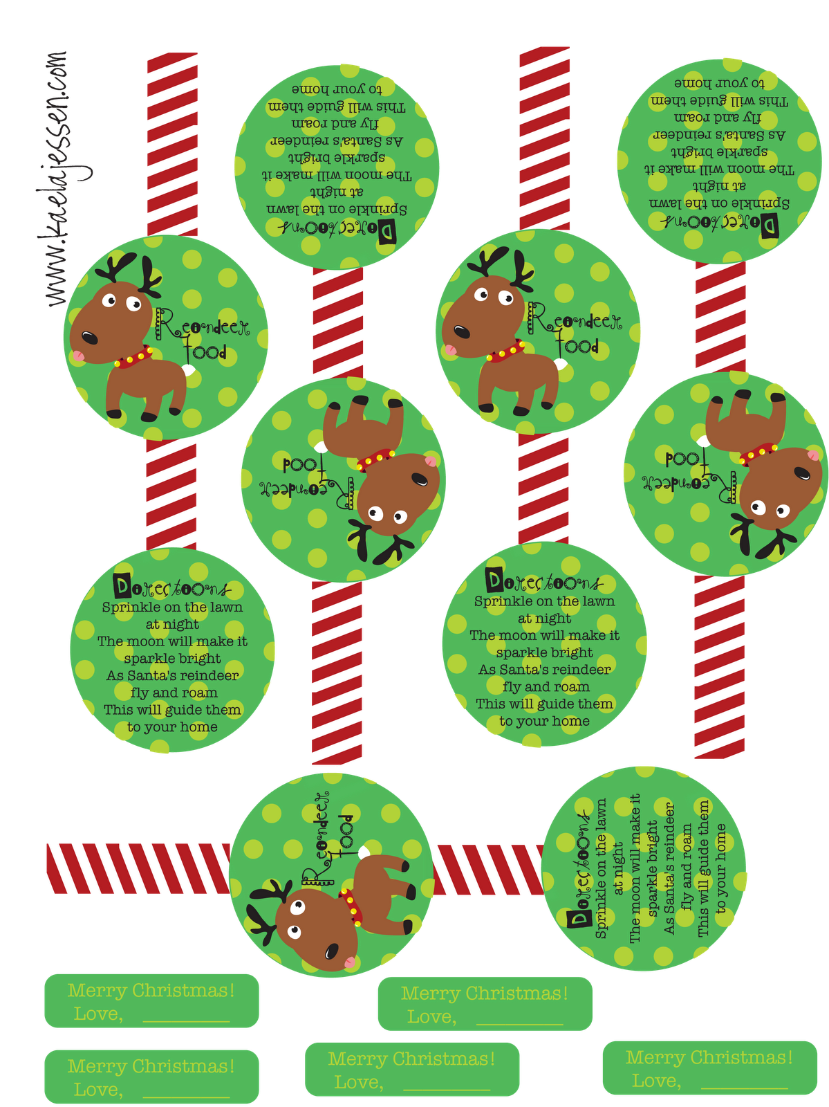Reindeer Food Label Printable