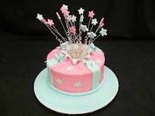 Exploding star cake
