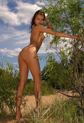 naakt meisje in duinen