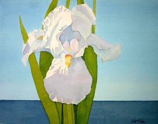 Terry krysak artworks white iris my first watercolor painting for My first watercolor painting