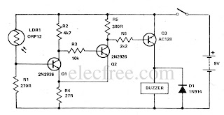 Circuit Electronics: Light Sensitive Switch with LDR + 2N2926