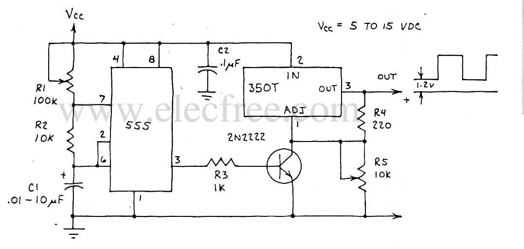 circuit electronics  lm350t power pulse generator
