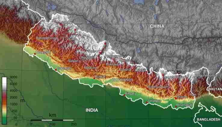 kathmandu nepal map. KATHMANDU : A 108-feet tall