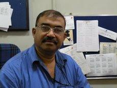 ။ Bhaumik at BBC Kolkata Office ။