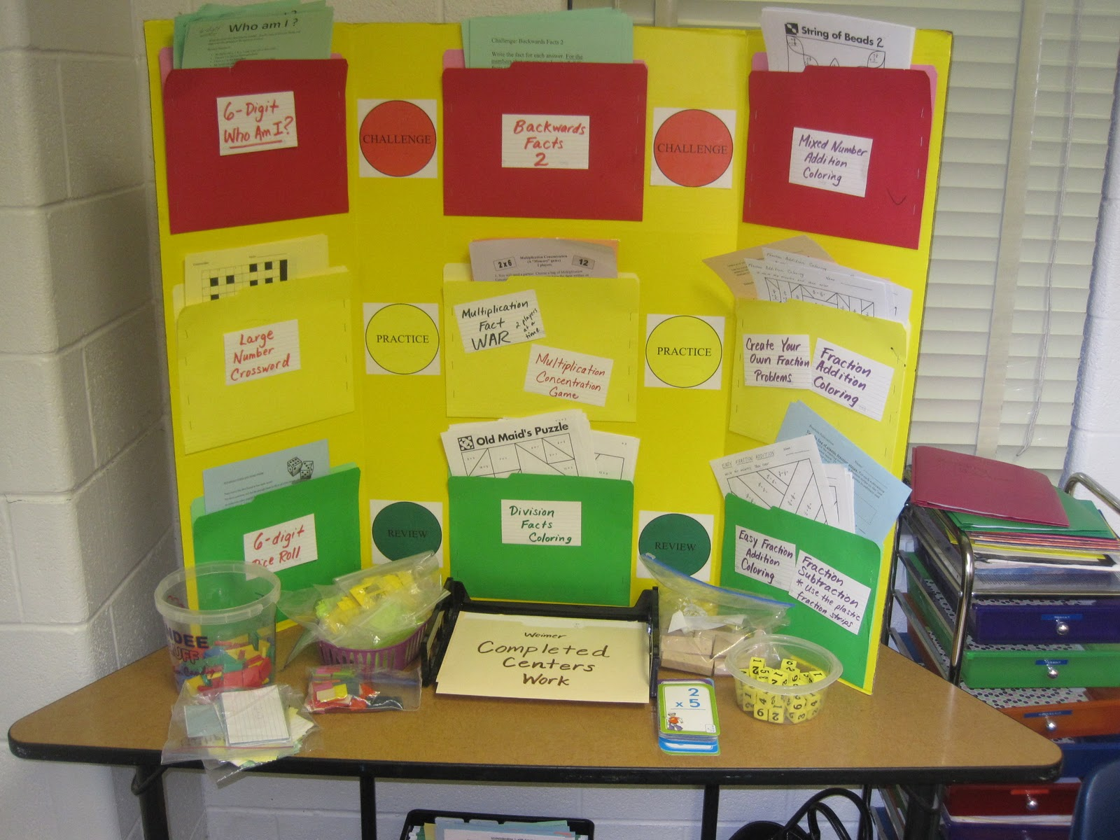 Classroom Presentation Ideas : Math center ideas