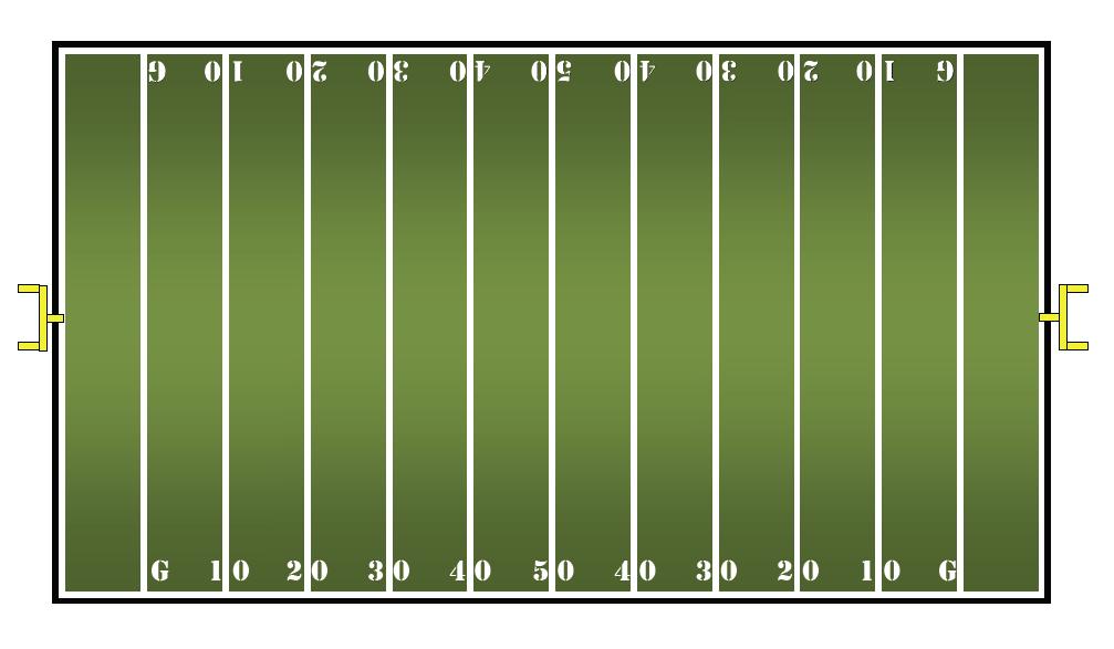 Math center ideas for Blank football field template