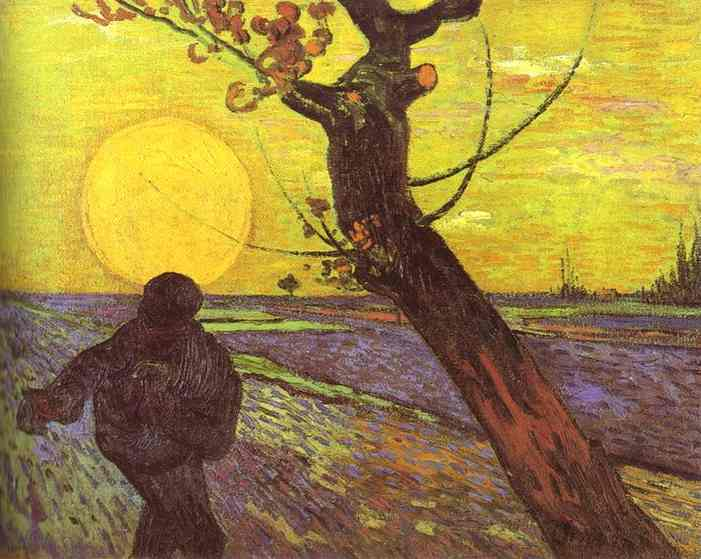 sower with settting sun (artist: Van Gogh)