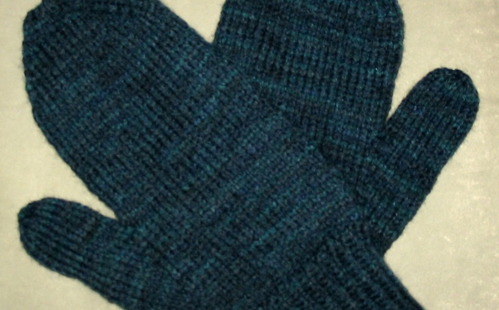 Knit With Kt Basic Mens Mittens