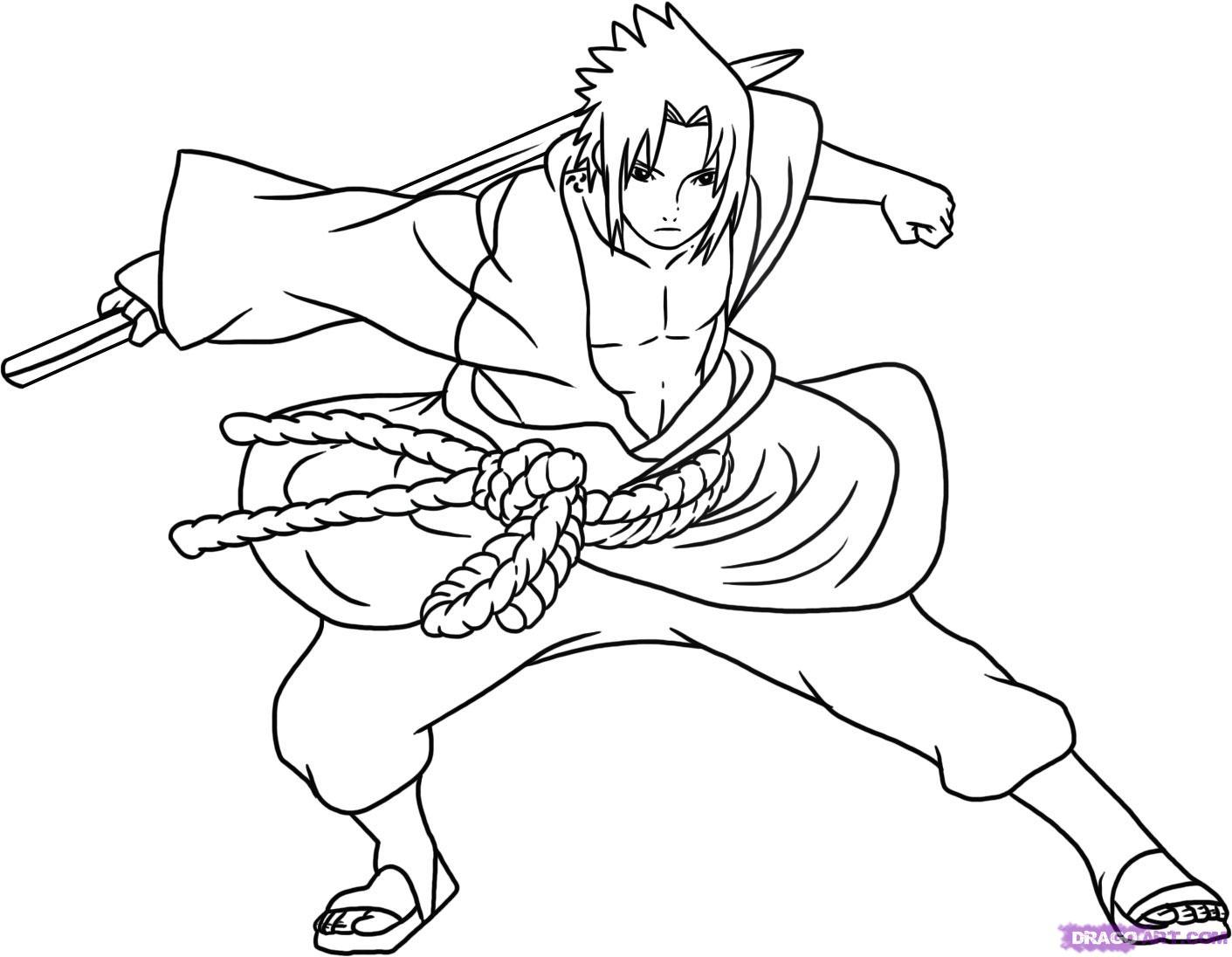 Sasuke - Coloriage sasuke ...