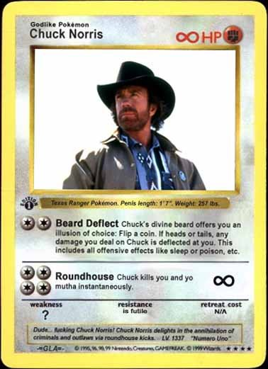 Pokemon cards of Chuck Norris