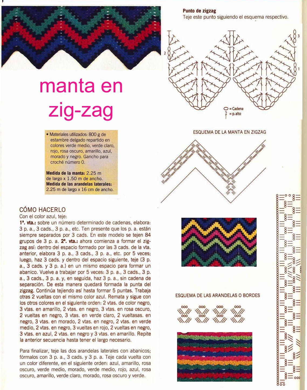 Famoso Tejer Patrón Zigzag Regalo - Ideas de Patrones de Costura ...